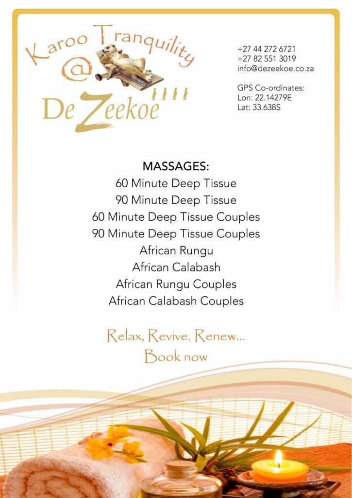 Karoo Tranquillity Spa Brochure 01 2018