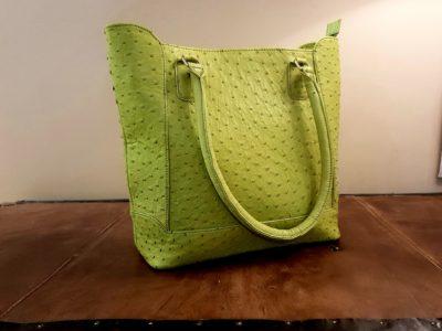 Green Leather Hand Bag Karoo