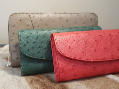 Ostrich Leather Purses Karoo