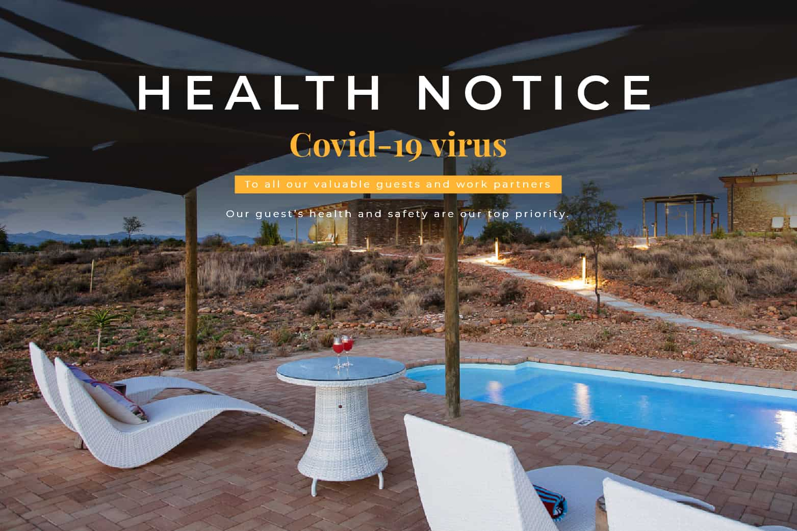 Guest house covid-19 health notice